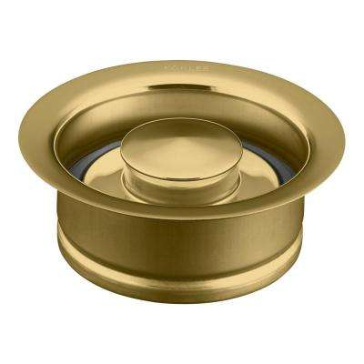 Disposal Flange with Stopper in Vibrant Polished Brass