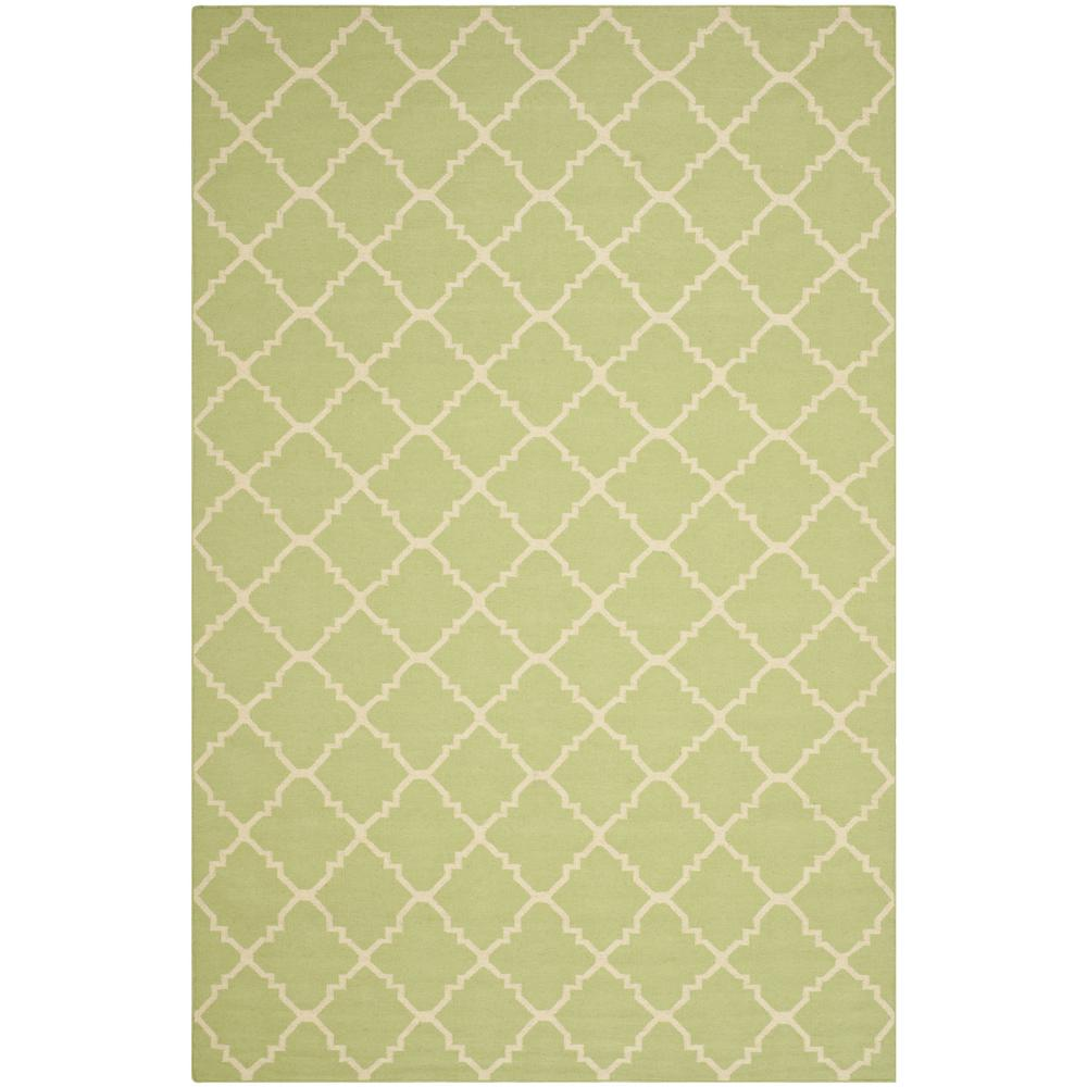 Dhurries Light Green/Ivory 5 ft. x 8 ft. Area Rug