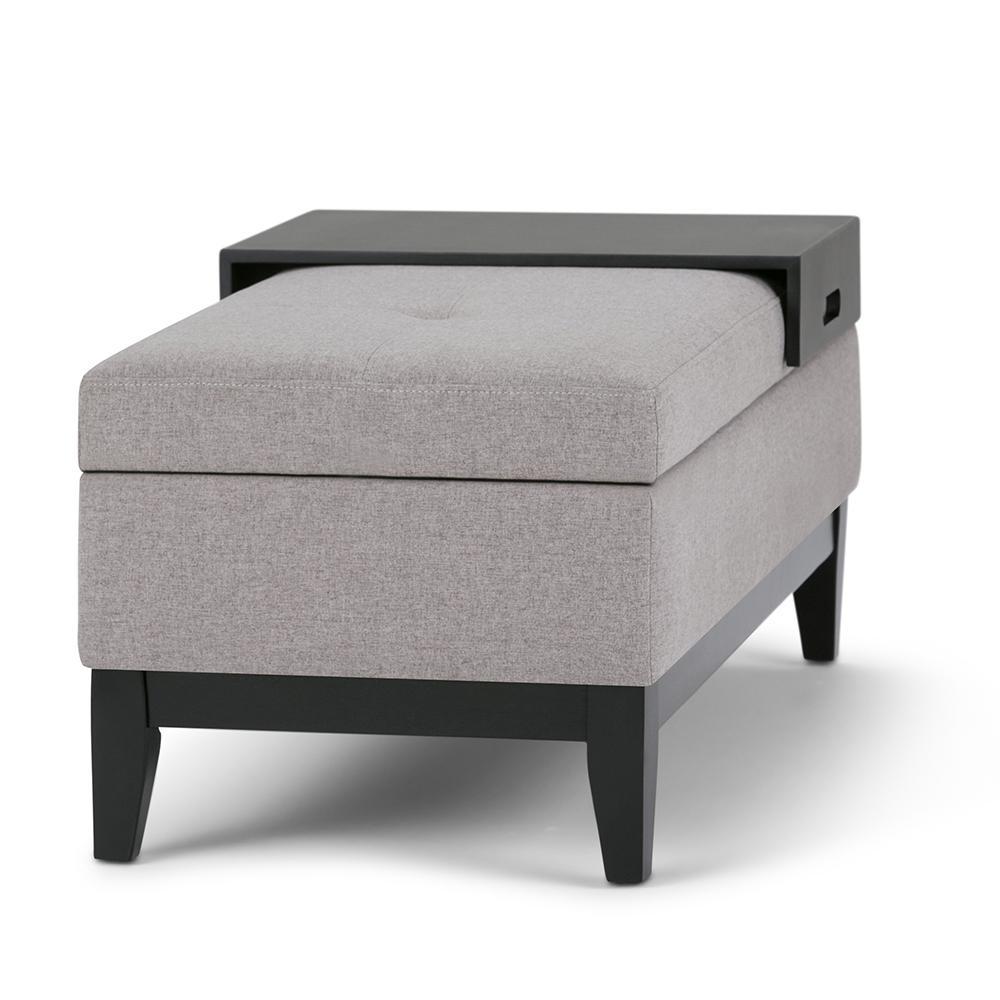 Tremendous Simpli Home Oregon 42 In Transitional Storage Ottoman In Customarchery Wood Chair Design Ideas Customarcherynet