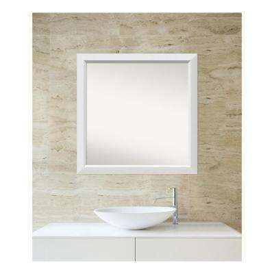 Choose Your Custom Size 30 in. x 30 in. Blanco White Wood Framed Mirror