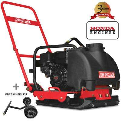 5 5 HP Honda Vibratory Plate Compactor for Asphalt, Soil Compaction with 3  Gal  Water Tank