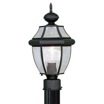 Providence 1-Light Outdoor Black Incandescent Post Lantern