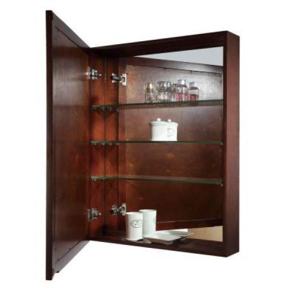 Avanity Madison 28 In W X 36 In H X 6 3 10 In D Framed Surface Mount 3 Shelf Bathroom Medicine Cabinet In Light Espresso Madison Mc28 Le The Home Depot