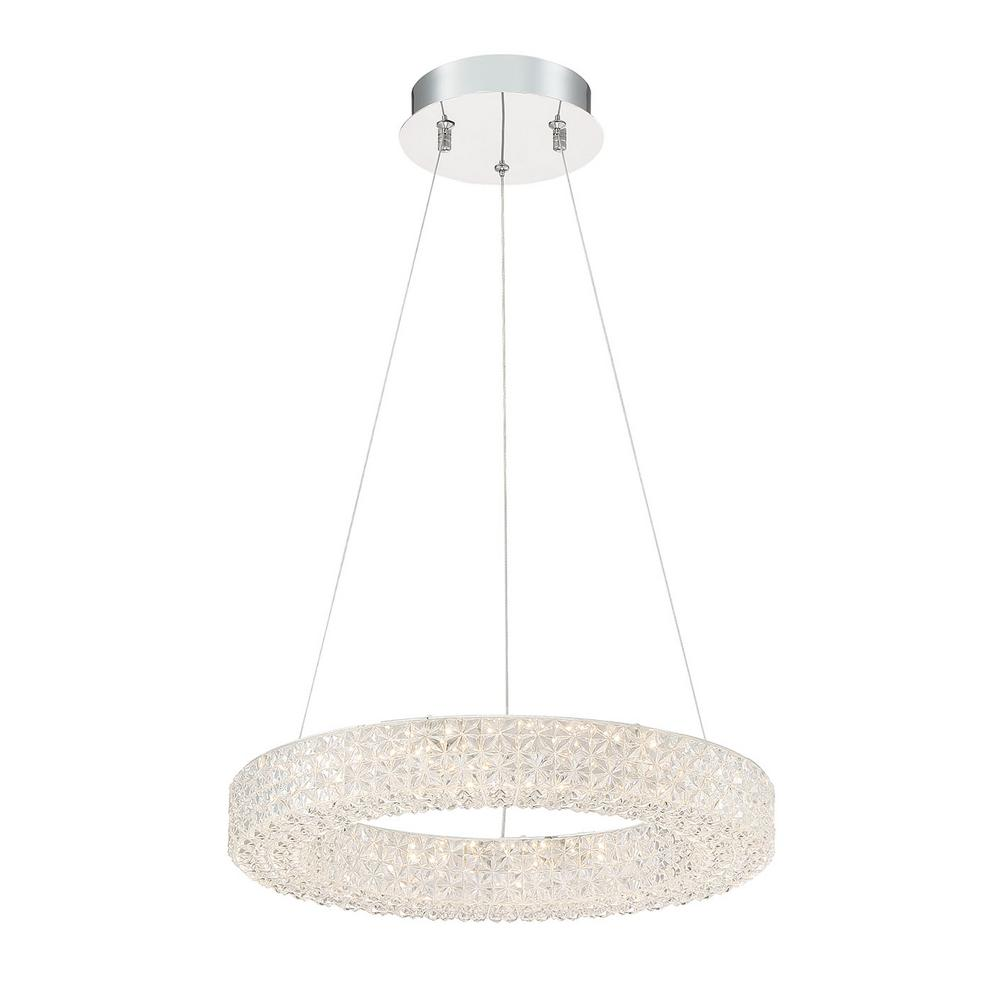 Good Lumens by Madison Avenue Good Lumens by Madison Avenue 100-Watt Equivalence Integrated LED Chrome Pendant