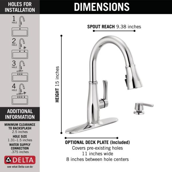 Delta Owendale Single Handle Pull Down Sprayer Kitchen Faucet With Shieldspray Technology In Chrome 19875z Sd Dst The Home Depot