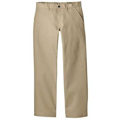 Relaxed Straight Fit 44 in. x 32 in. Polyester Pant Khaki