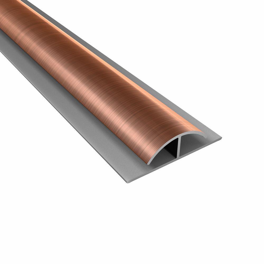 Fasade 4 ft. Polished Copper Divider Trim