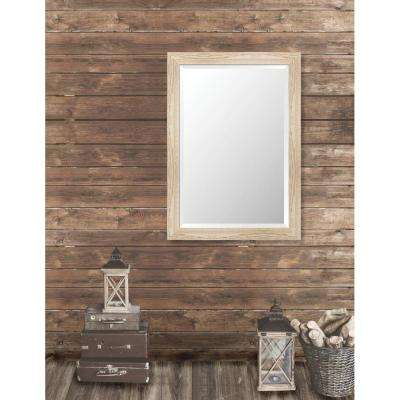 Harrington 29.125 in. x 41.125 in. Reclaimed Heritage Framed Bevel Mirror