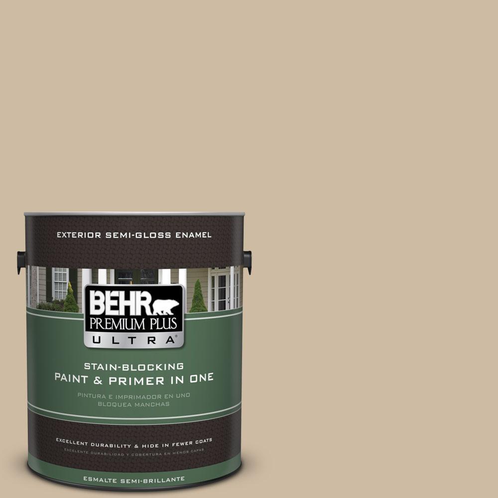 BEHR Premium Plus Ultra 1-gal. #710C-3 Gobi Desert Semi-Gloss Enamel Exterior Paint