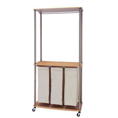 Laundry Center Sorter with Hanging Rod