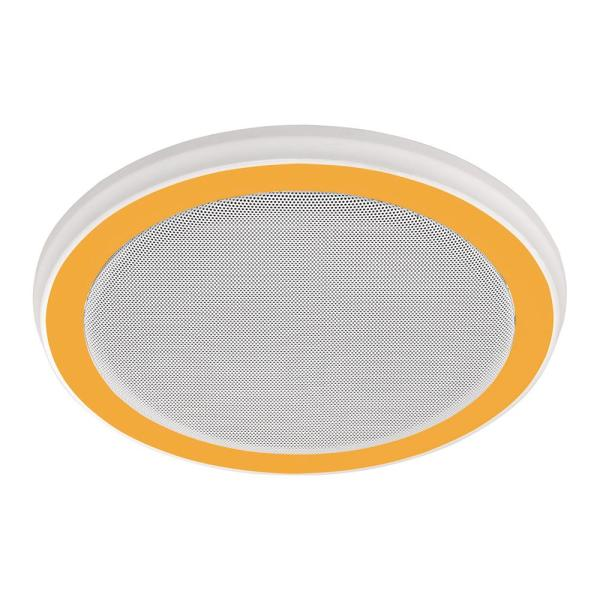 Decorative White 100 Cfm Bluetooth Stereo Speakers Bathroom Exhaust Fan With Led