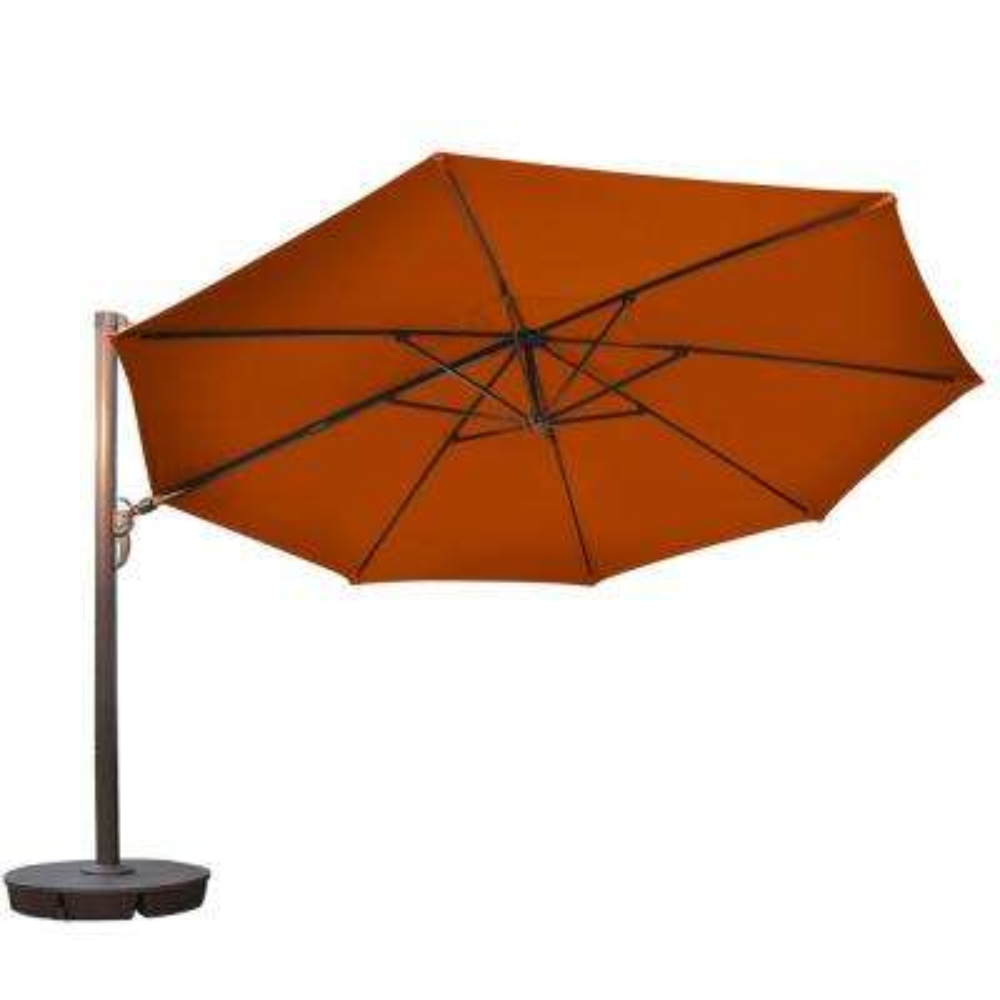 Victoria 13 ft. Octagonal Cantilever Patio Umbrella in Terra Cotta Sunbrella Acrylic