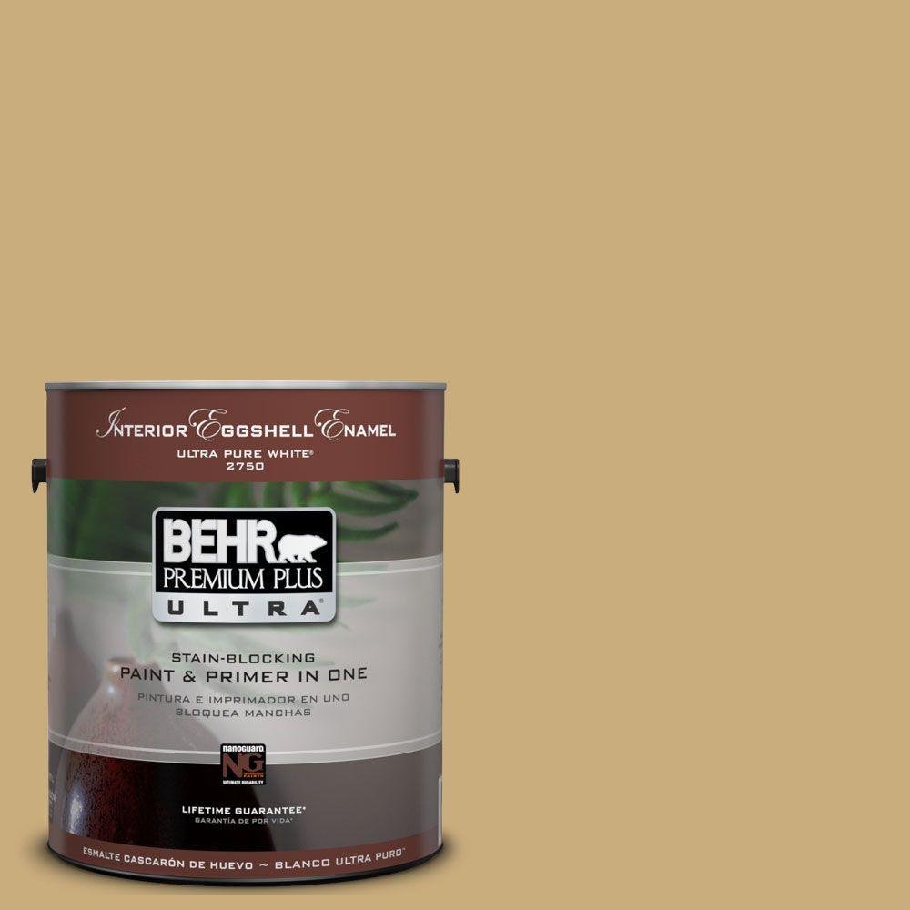 BEHR Premium Plus Ultra 1-Gal. #UL180-7 Cup Of Tea Interior Eggshell Enamel Paint