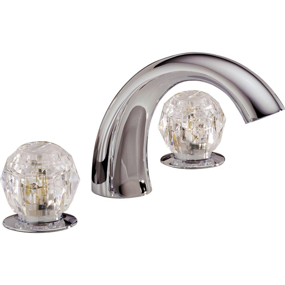 Delta 2-Handle Deck-Mount Roman Tub Faucet in Chrome-2705 - The Home ...