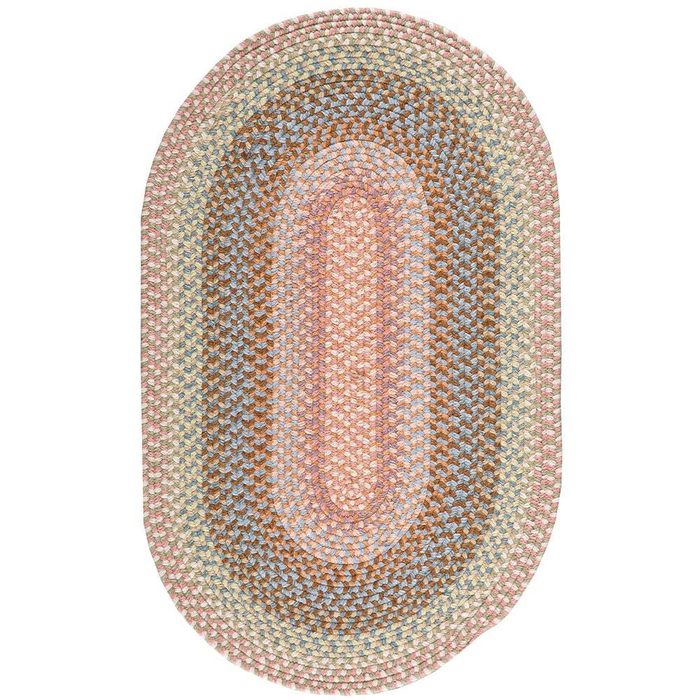 Nourison Overstock Craftwork Coral 2 ft. x 3 ft. 9 in. Oval Accent Rug
