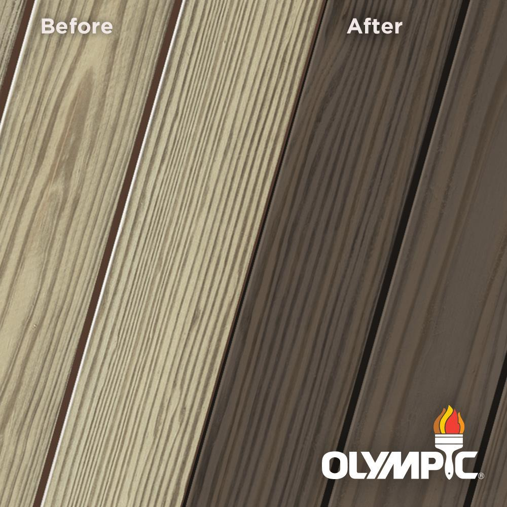 Olympic Elite 8 oz. Wenge Semi-Solid Exterior Wood Stain and Sealant in One