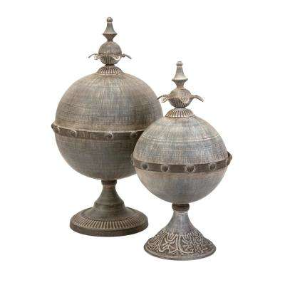 Decorative Lidded Spheres (Set of 2)