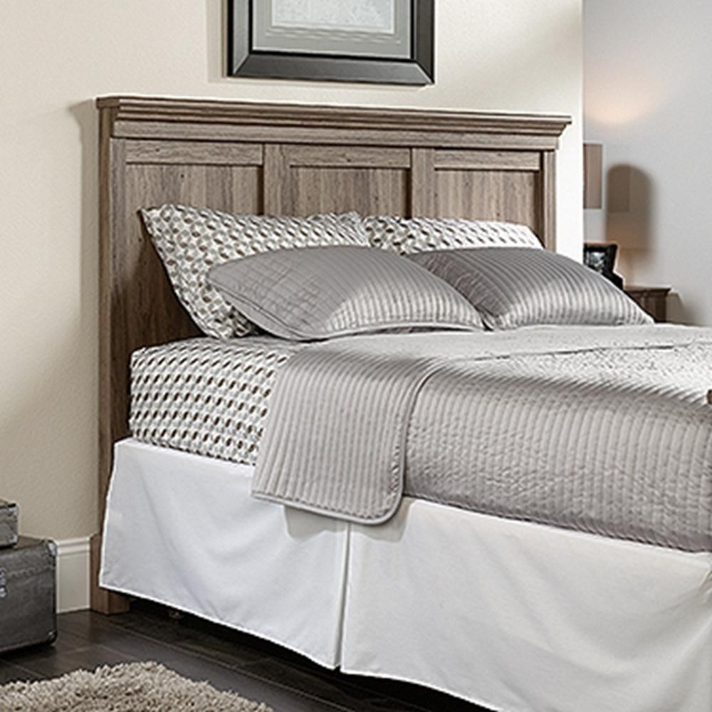 . SAUDER Barrister Lane Salt Oak Queen Headboard 419249   The Home Depot
