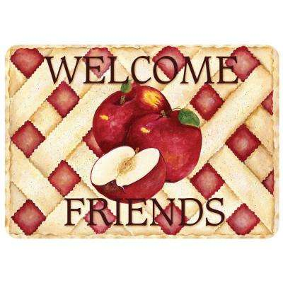 Apple Pie Welcome 22 in. x 31 in. Polyester Surface Mat