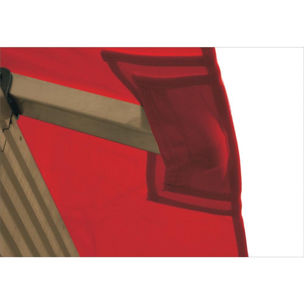 12 ft. x 12 ft. STC Seville and Santa Cruz Jockey Red Gazebo Replacement Canopy