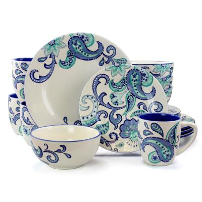 Roxanna 16-Piece Blue Floral Dinnerware Set (Service for 4)