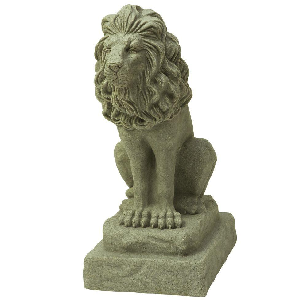 Backyard Statues emsco 28 in. guardian lion statue-2210-1 - the home depot