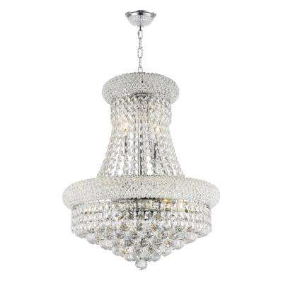 Empire 8-Light Polished Chrome and Clear Crystal Chandelier