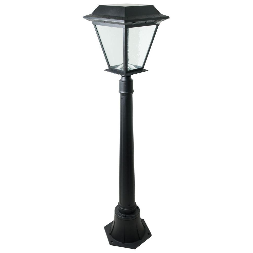 XEPA Timer Activated 12 hrs. 200 Lumen 42 in. Outdoor Black Solar LED Post Lamp