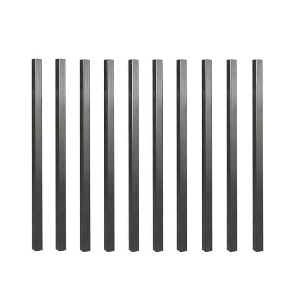 26 in. x 3/4 in. Galvanized Square Balusters (10-Pack)