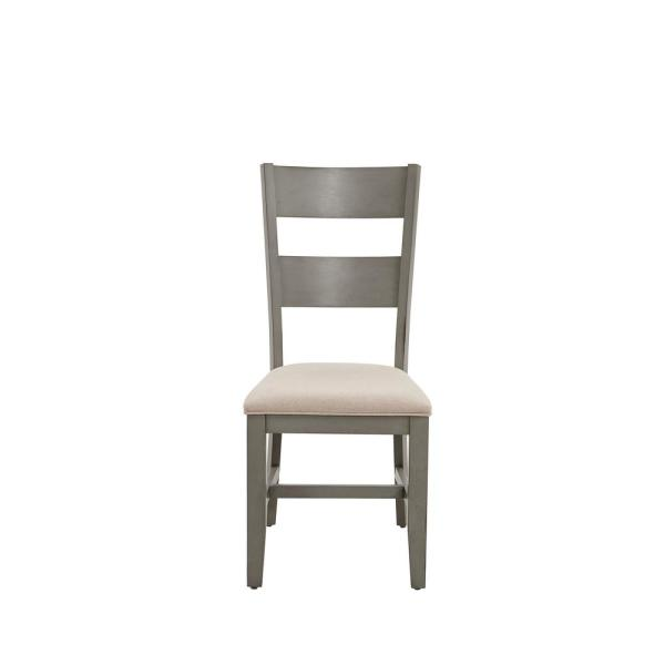 Toronto Linen and Weathered Gray Upholstered Dining Chair (2 per Carton)