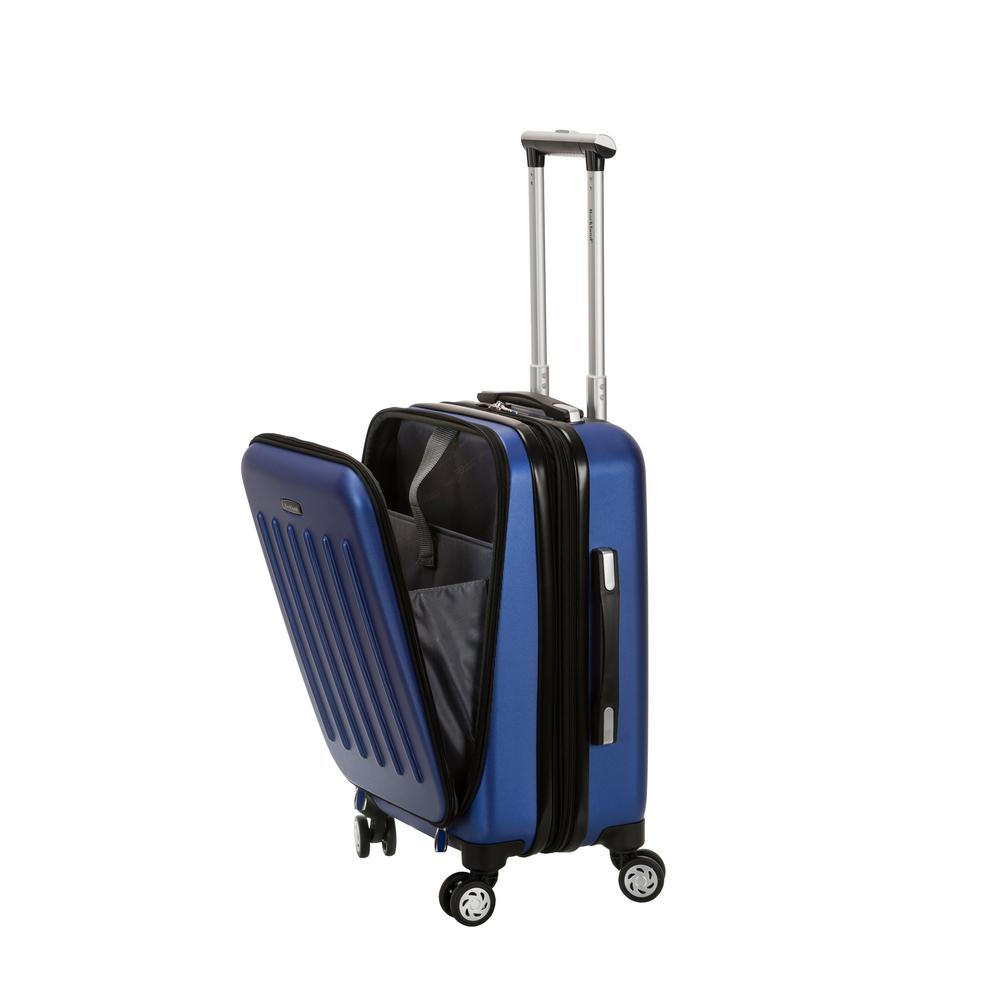 Rockland Titan 19 in. ABS Spinner Laptop Carry-On, Blue