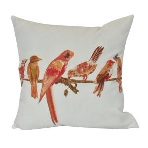 16 inch Morning Birds, Animal Print Decorative Pillow by