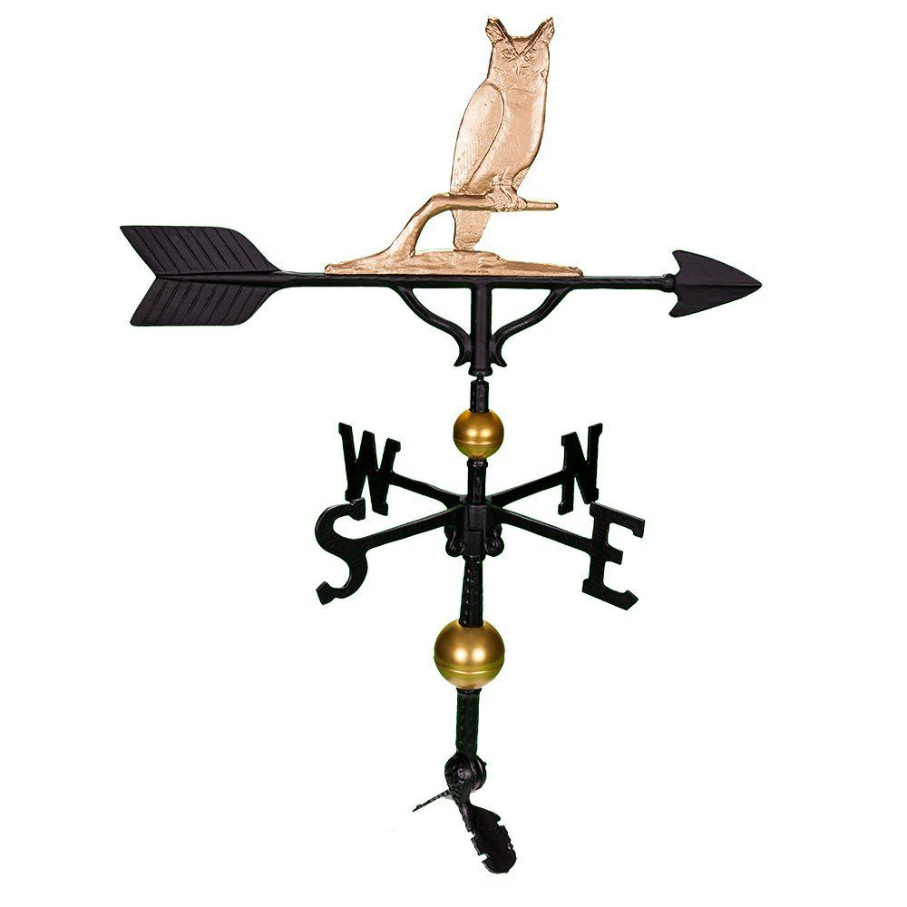 Montague 32 in. Deluxe Gold Owl Weathervane