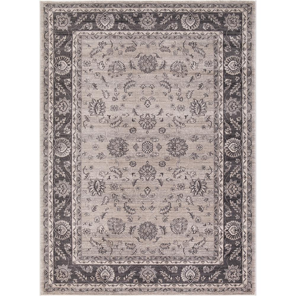 Kashan Mahal Ivory 6 ft. 7 in. x 9 ft. 3