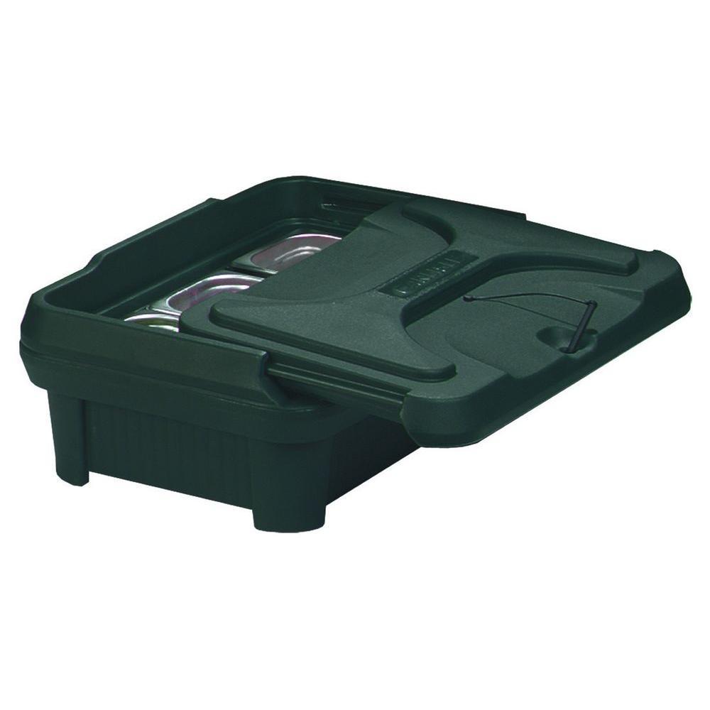 Carlisle Cateraide Slide N Seal Top Load Pan Carrier for 6 in. Deep Pans in Black