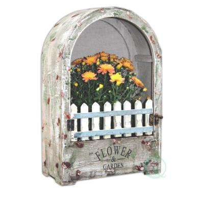 9.6 in. W x 4.5 in. D x 14.5 in. H Wood Wall Planter