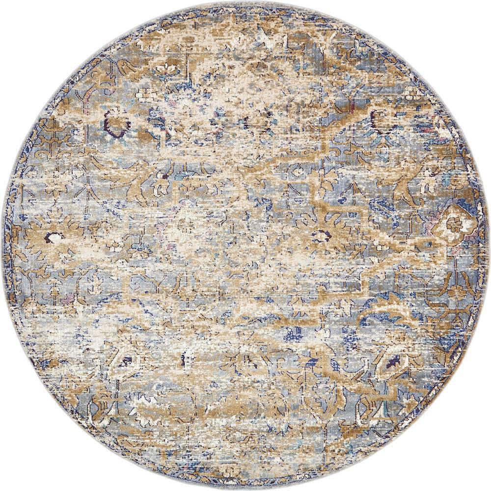 Augustus Assisi Tan 8' 0 x 8' 0 Round Rug