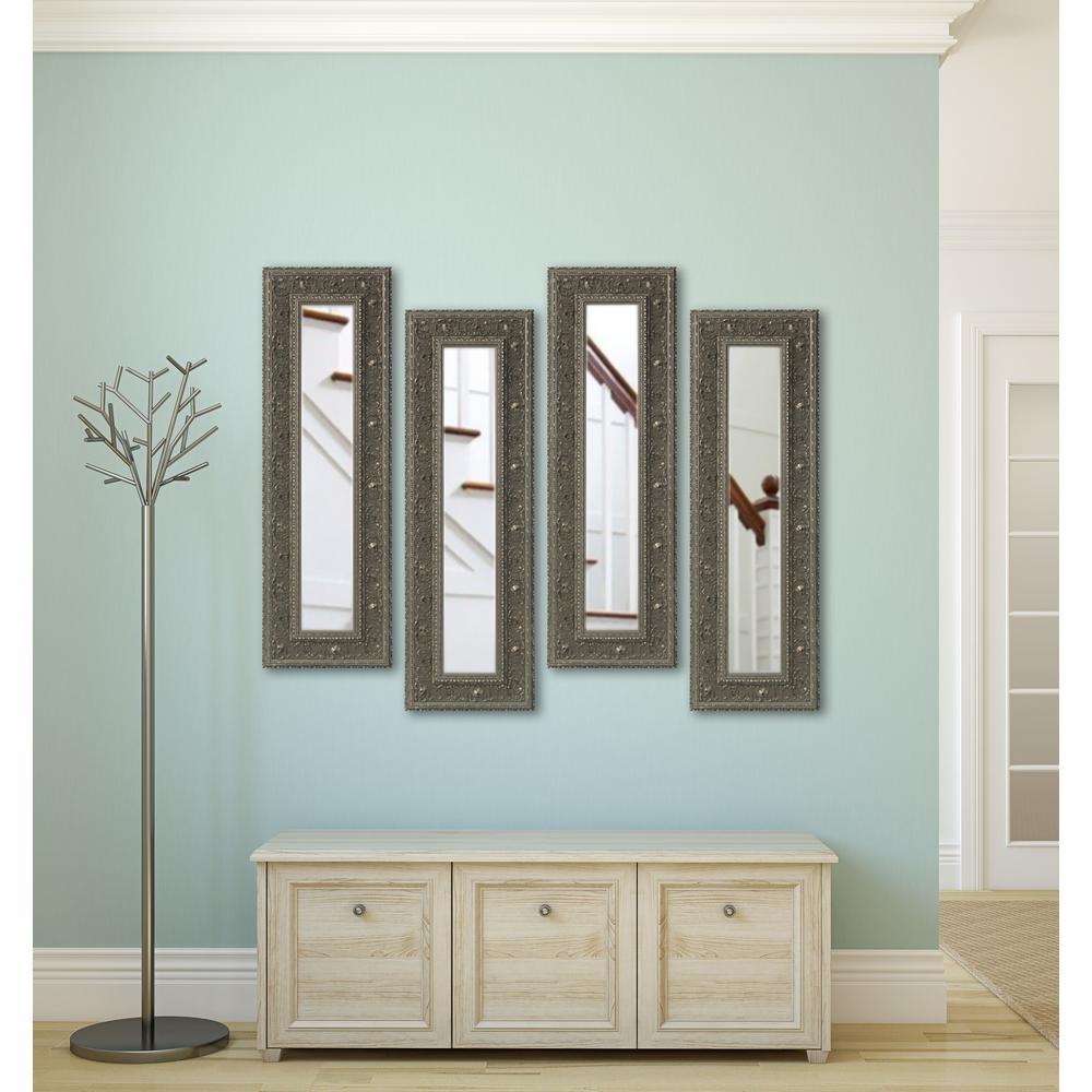 Ont Silver Vanity Mirror Set Of 4