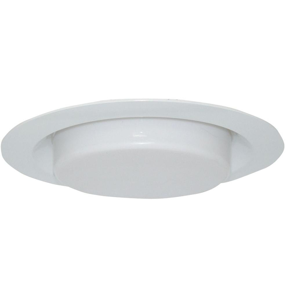 Design House 6 in. White Recessed Lighting Shower Trim with Poly-Carbonate Drop Lens
