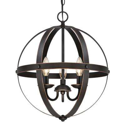 Oil Rubbed Bronze with Highlights Cage Shade with 2-1/4 in. Fitter and 8-11/16 in. Width