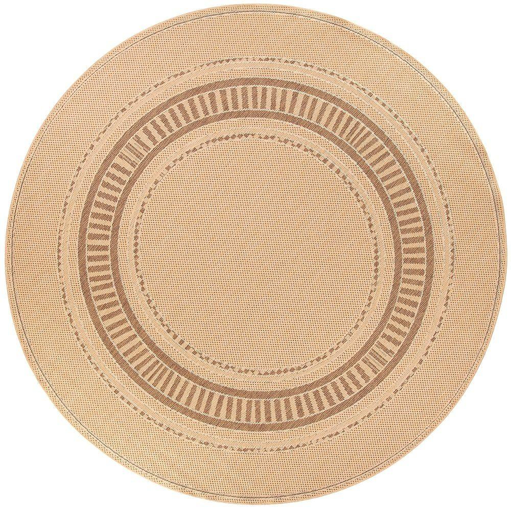 Home Decorators Collection Pueblo Design Cocoa/Natural 8 ft. 6 in. Round Area Rug