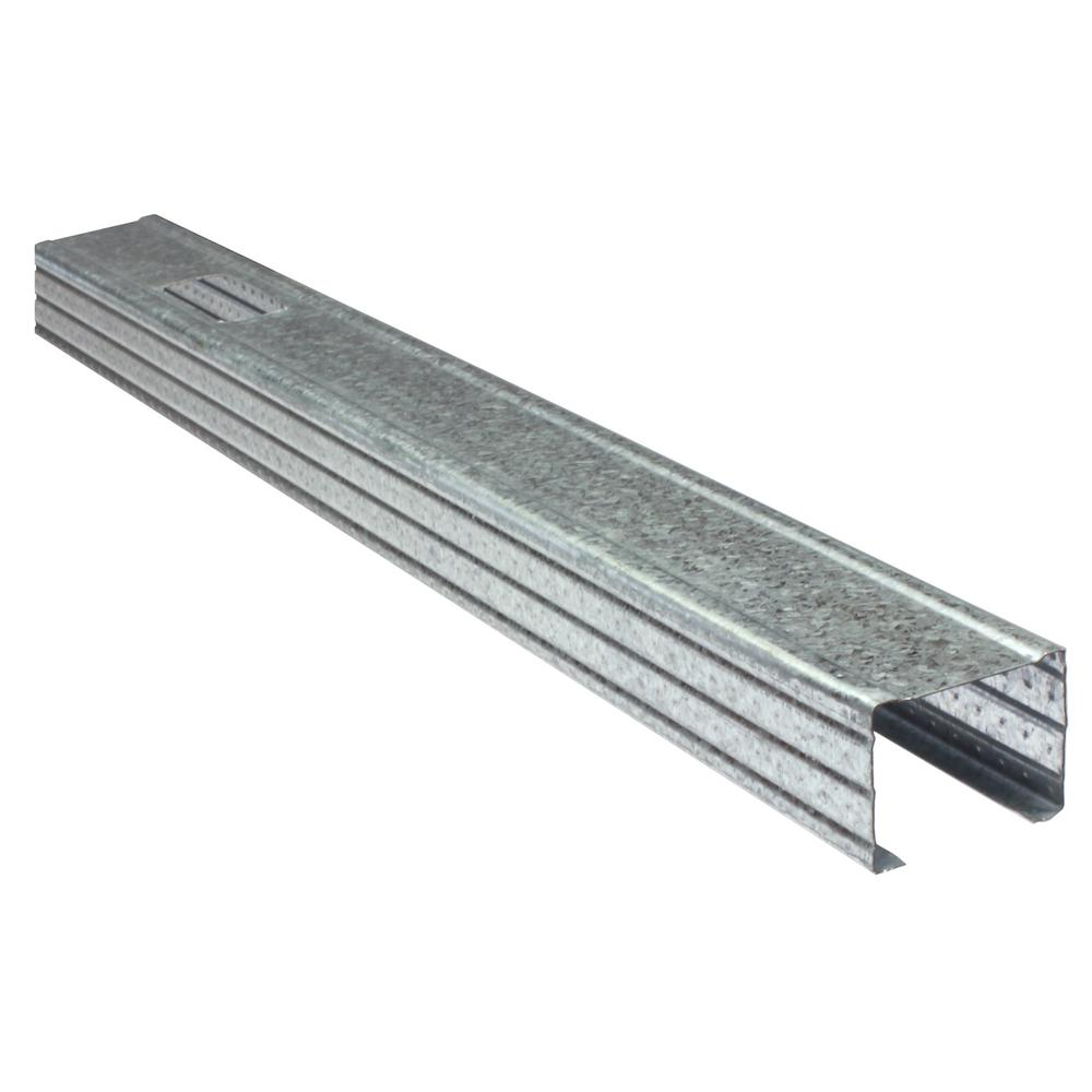 Metal framing studs Residential 25gauge Eq Galvanized Steel Wall Framing Stud Rosen Materials Clarkdietrich Prostud 25 158 In 10 Ft 25gauge Eq Galvanized