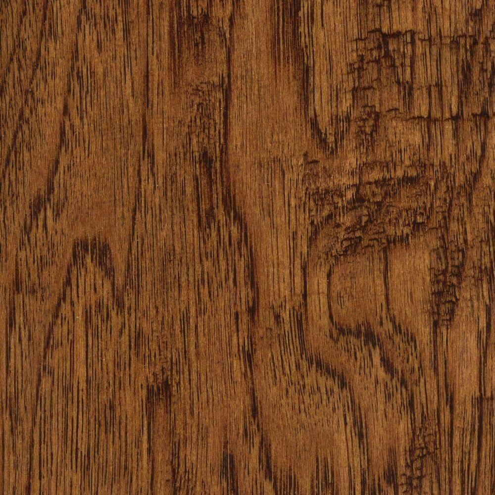 Home Legend Take Home Sample Handscraped Distressed Palmero Hickory Click Hardwood Flooring 5 In. X 7 In.