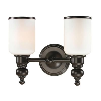 Leadenhall 2-Light Oil-Rubbed Bronze LED Bath Light