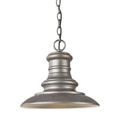 Redding Station Tarnished Silver Integrated LED Hanging Pendant