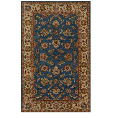 Old London Blue/Cream 4 ft. x 6 ft. Area Rug