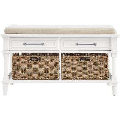 Charmant Aberdeen Polar White Storage Bench