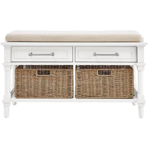 Home Decorators Collection Aberdeen Polar White Storage Bench 9950100410