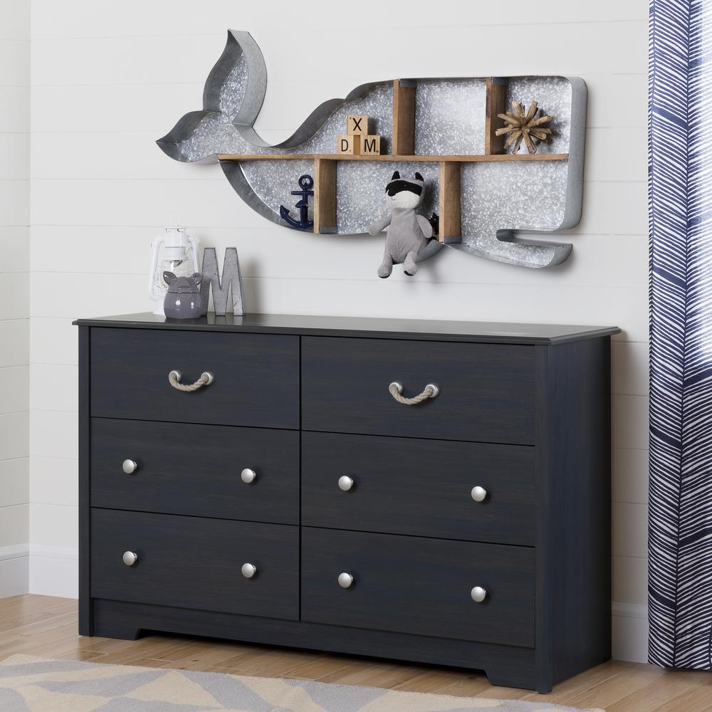 South Shore Aviron 6-Drawer Blueberry Dresser