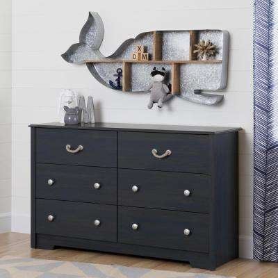 Aviron 6-Drawer Blueberry Dresser